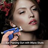 Ear Nose Navel Body Piercing Gun with 98 Studs
