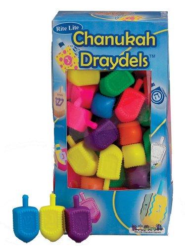 Amazon.com: Medium Plastic Dreidels - 100/ Bag: Industrial ...