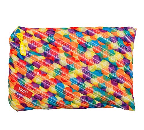ZIPIT Colorz Big Pencil Case/Cosmetic Makeup Bag, Small Bubbles