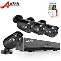 ANRAN 4CH Outdoor AHD DVR 1080N 720P Video Surveillance Security System with 4 Channels HD 720P IR Bullet Cameras Network Home Video Kits (Night Vision, Motion Detect, Free App, No HDD)
