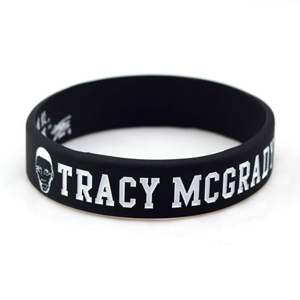 Lorhs store Basketball Tracy McGrady Portr/ät Armband Silikon Inspirierende Wort Sport Schwei/ßb/änder 4 Pcs