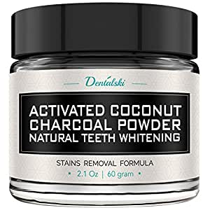 Activated Charcoal Teeth Whitening Powder - Made in USA with Organic Coconut Activated Charcoal for Safe Effective Teeth Whitening, 100% Natural, Better Than Strips, Kit, Gel & Whitening Toothpaste