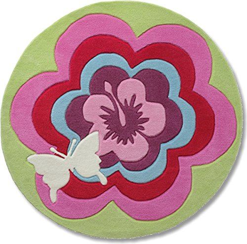 Esprit Home for Kids Fantasy Flower Area Rug 3'3'' Round (Esprit Flowers)