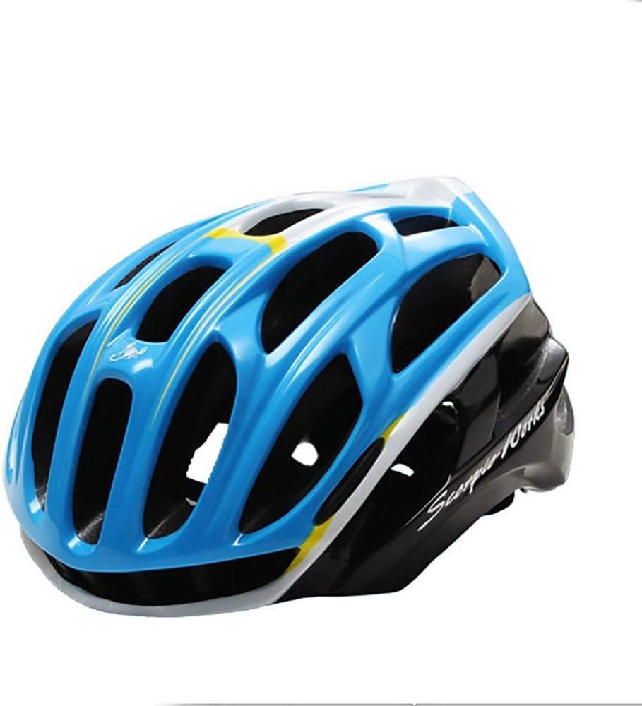 HYH 4D Pulido Azul Y Blanco Casco De Bicicleta Casco De Montar A Caballo Casco De Bicicleta Equipo De Montar En Bicicleta De Montaña Casco De Coche Eléctrico Al Aire Libre Casco De Motocicleta buena v