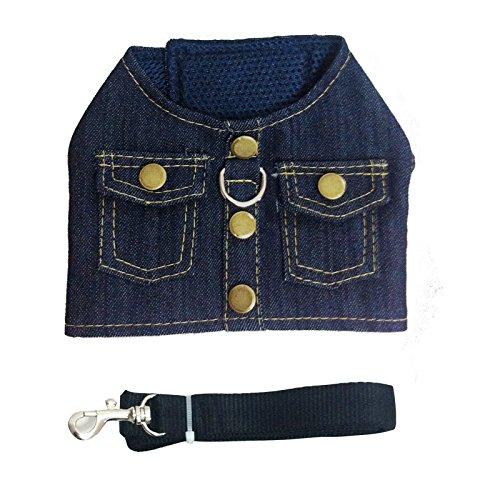 - YOLSUN Cowboy Pet Adjustable Mesh Vest Harness with leash (M)