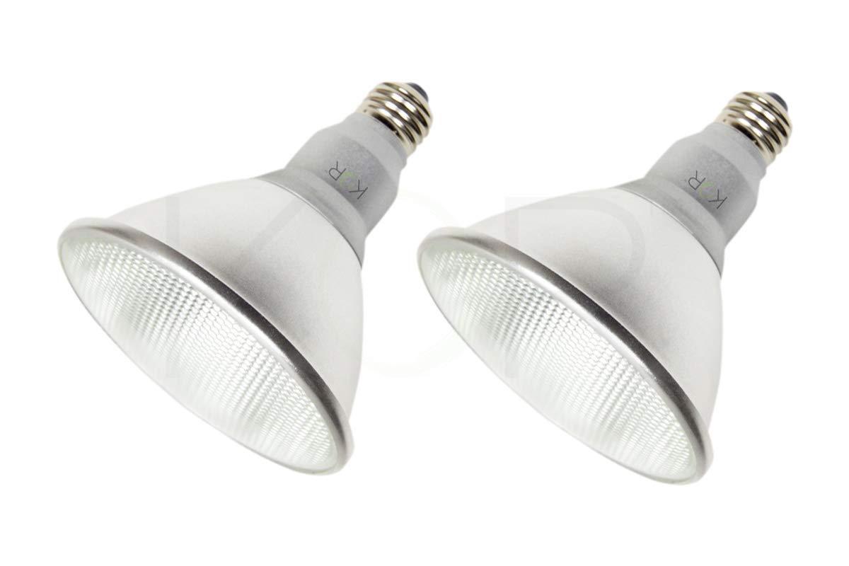 (Pack of 2) K21471 LED PAR38/FL 120V - 18 Watt High Output (100W Replacement) PAR38 Flood - 120 Volt - LED Light Bulbs Indoor & Outdoor Use 3000K (Soft White)
