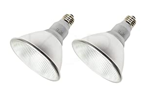 (Pack of 2) K21471 LED PAR38/FL 120V - 18 Watt High Output (100W Replacement) PAR38 Flood - 120 Volt - LED Light Bulbs Indoor & Outdoor Use 3000K (Soft White)