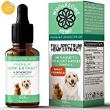 Hemp Oil for Dogs & Cats - Dog Anxiety Relief, Joint Support for Dogs, Great for Healthy Skin and Coat - Good Source of Omega 3 for Dogs - Organic - Made in USA - Apply to Dog Calming Treats - Dog