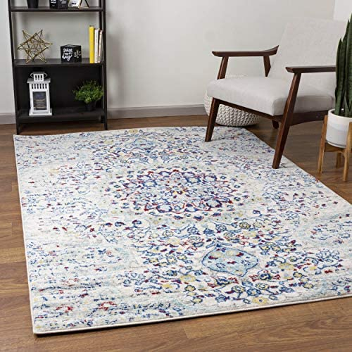 Super Area Rugs Mohali Blooming Medallion Area Rug