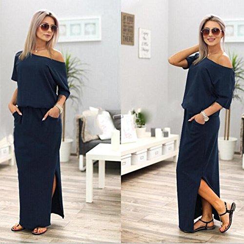 19afae3ef1 Mujer Vestidos De Ropa Niña Largos Maxi Mujer Vestido Fiesta Casual  Elegantes Largo Boho Falda Armada ...