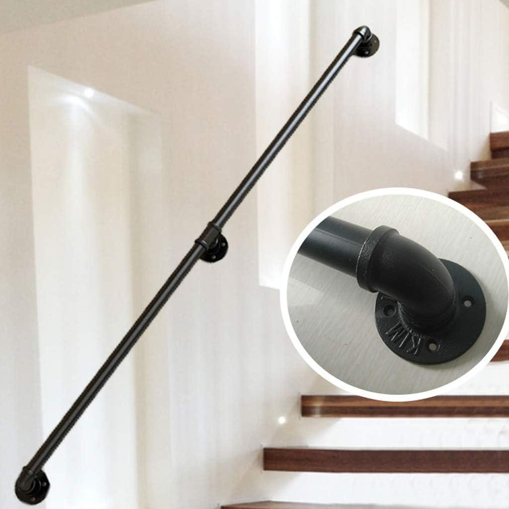 Pasamanos de escalera de hierro forjado para interiores y exteriores de 120 cm, pasillo del ático, poste de apoyo para barandillas de escaleras para niños mayores, reposabrazos antideslizante