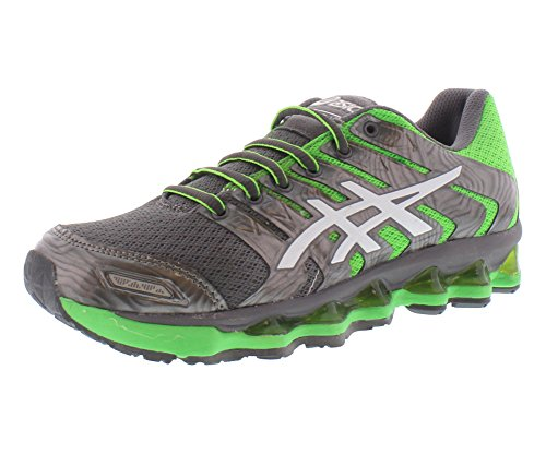 ASICS Women's G T3D 1 Running Shoes, Grey/Green/White, 9.5 M - Inserts Shoes Running Asics