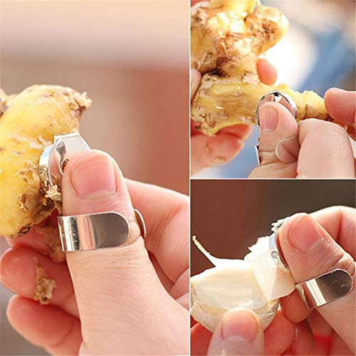 (Practical Stainless Steel Kitchen Gadget Garlic Ginger Cutter Peeler Tools 1Pc)