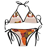 fuxinwang Africa Bikini Halter Swimsuit Triangle Bathing Suits for Women