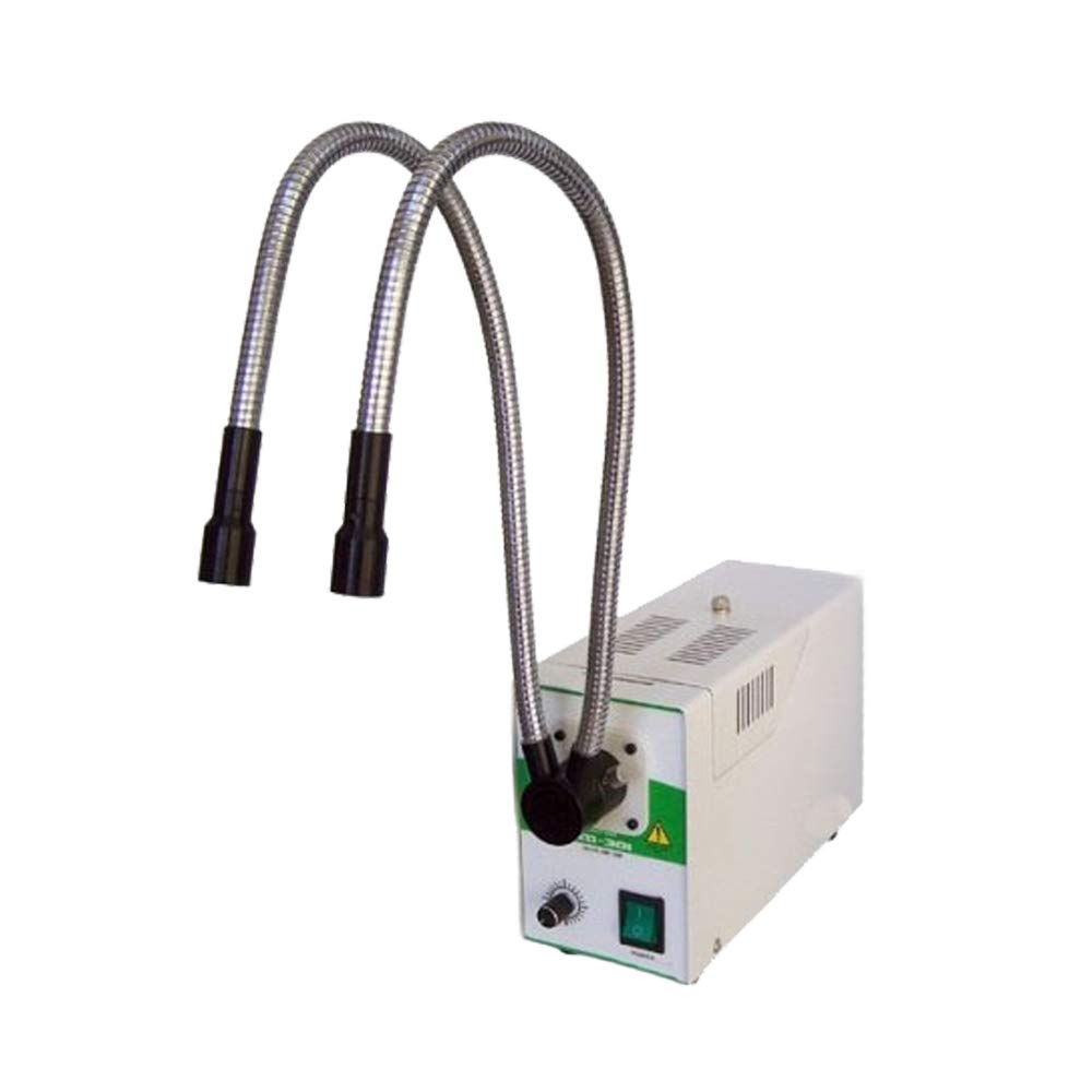Halogen Cold Light Source Fiber Optic Microscope Light Oral Endoscope 95-240V 150W (With Dual Metal Pipe)