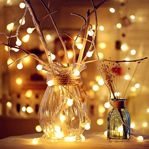 ANJAYLIA 2 Pack Globe String Lights Fairy Lights Battery Operated 20ft 40LED Warm White String Lights with Remote Waterproof Indoor Outdoor Decorative Christmas Lights for Home Party Patio Garden