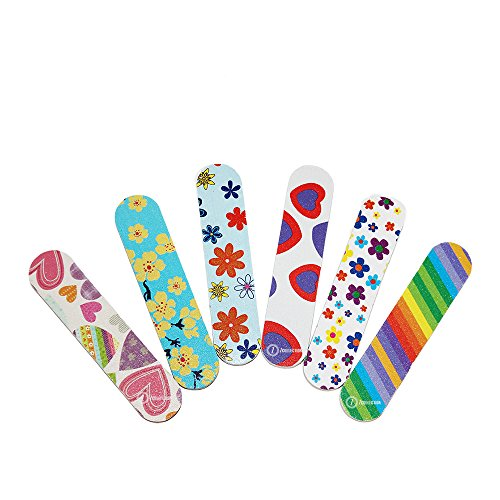 ZMOI TM (1 DOZEN) Colorful Girly Mini Emery Board Nail Files ()