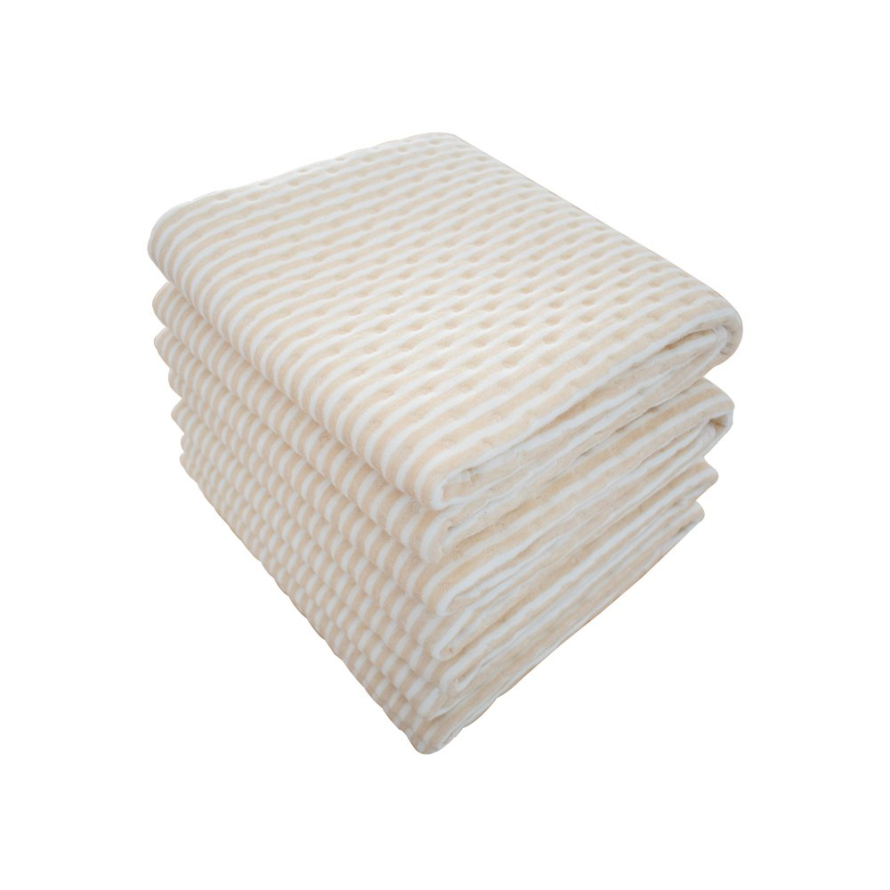"""Waterproof Bed Pad Incontinence Mattress Protector Natural Colored Cotton Underpads for Senior Citizen The Elderly Aged Golden-AGER People Baby Toddler Pet Spills Bedwetting Enuresis 31.5"""" * 39.4"""""""