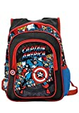 Marvel Captain America American Hero Backpack (Black Comic Print)