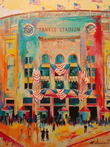 Al Sorenson Art Yankee Stadium Artist Paper 16X20