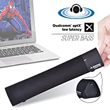 Avantree Super Bass Portable Laptop Speakers with Equalizer, Low Latency Wireless Speakers for TV, CSR Bluetooth 4.1 Mini Soundbar for Phone, iPad, Mac, Tablets