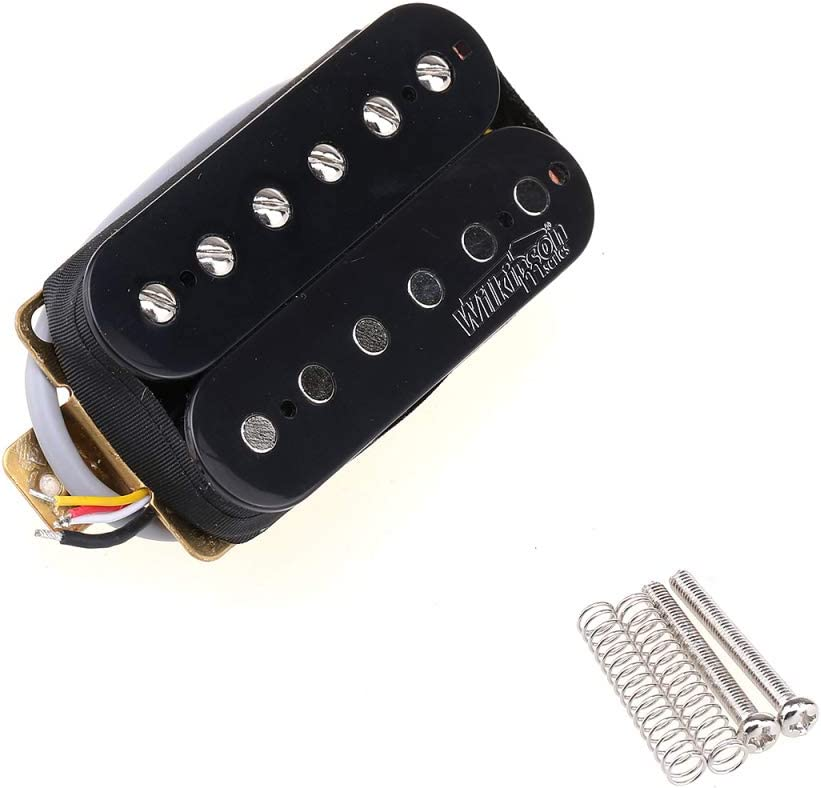 Wilkinson Vintage Tone Alnico 5 Overwound Open Style Humbucker Pickups Set for Electric Guitar Black