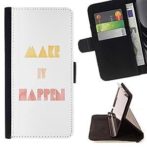Jordan Colourful Shop - it happen minimalist watercolor quote For Apple Iphone 6 PLUS 5.5 - Leather Case Absorci???¡¯???€????€???????