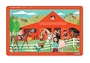 Crocodile Creek Horse Stable Placemat by Crocodile Creek