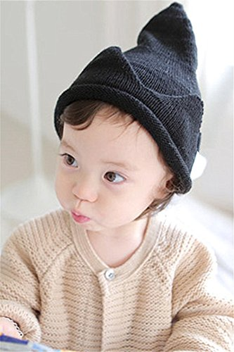 Cute Female Elf Costumes (Generic Korean version of the new fall and winter boys and girls baby cute knit hat Crown ing pretty woman elf wool hat)