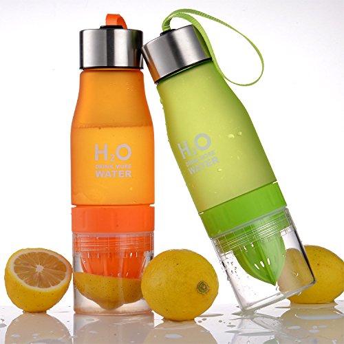 Ochoice Lemon Bottle Outdoor Sport Juice Water Bottles ( Blue)
