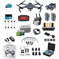 DJI Mavic PRO Portable Collapsible Mini Drone with 2 Total Batteries, + 64GB SD Card + Range Extender, Lens Hood, Reader, Landing Gear, Stick Protector, Prop Guards, Koozam Waterproof Case