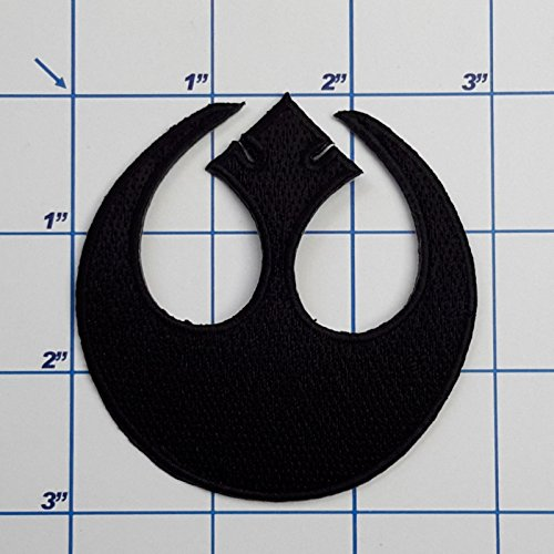 MINEJ - STAR WARS Iron-On Patches - Over 50 Different Styles, Classic & Modern - NEW! # Rebel Alliance Starbird Black -