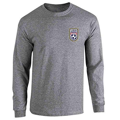 National Team Long Sleeve Tee - USA Soccer Retro National Team Jersey Graphite Heather 2XL Long Sleeve T-Shirt