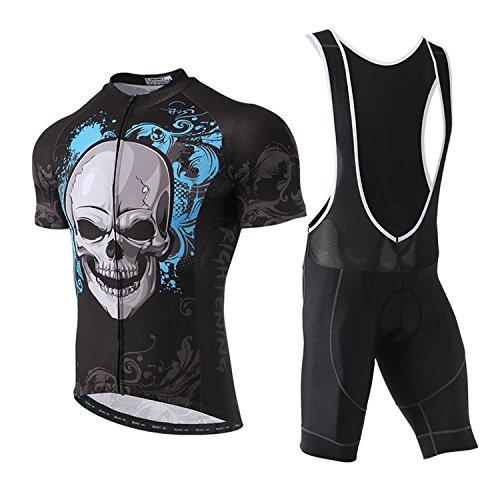 TeyxoCo 2018 Men Summer Blue Cycling Jersey Short Sleeve Padded Jersey Bid Set XXL - Coors Cycling Jersey