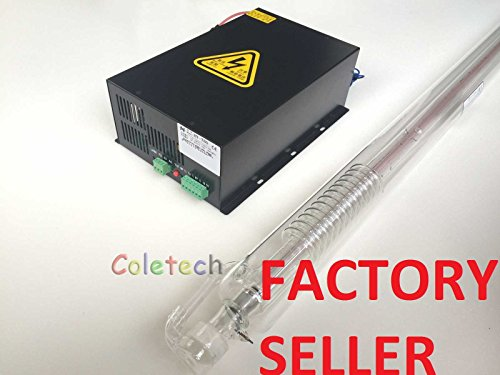 80W(max 100W) Co2 Laser Tube(1250mm) Industry Grade + 80W Power Supply Engraver Cutter New Black