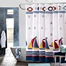 nautical bathroom shower curtains