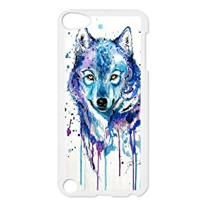 Custom Colorful Case for Ipod Touch 5, Rainbow Wolf Cover Case - HL-R671815