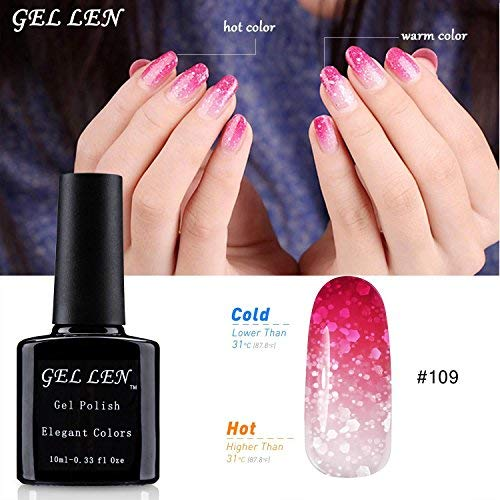 Gel Nail Polish Qatar: Gellen UV LED Temperature Color Changing Chameleon Gel