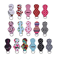 DescriptionThis package include 16pcs lipstick keychain. They will make your life easier, no more fishing around in the purse or pockets for lip balm or lipstick, attaching it to your keyring, purse hardware, backpack and lanyard. Made of pre...