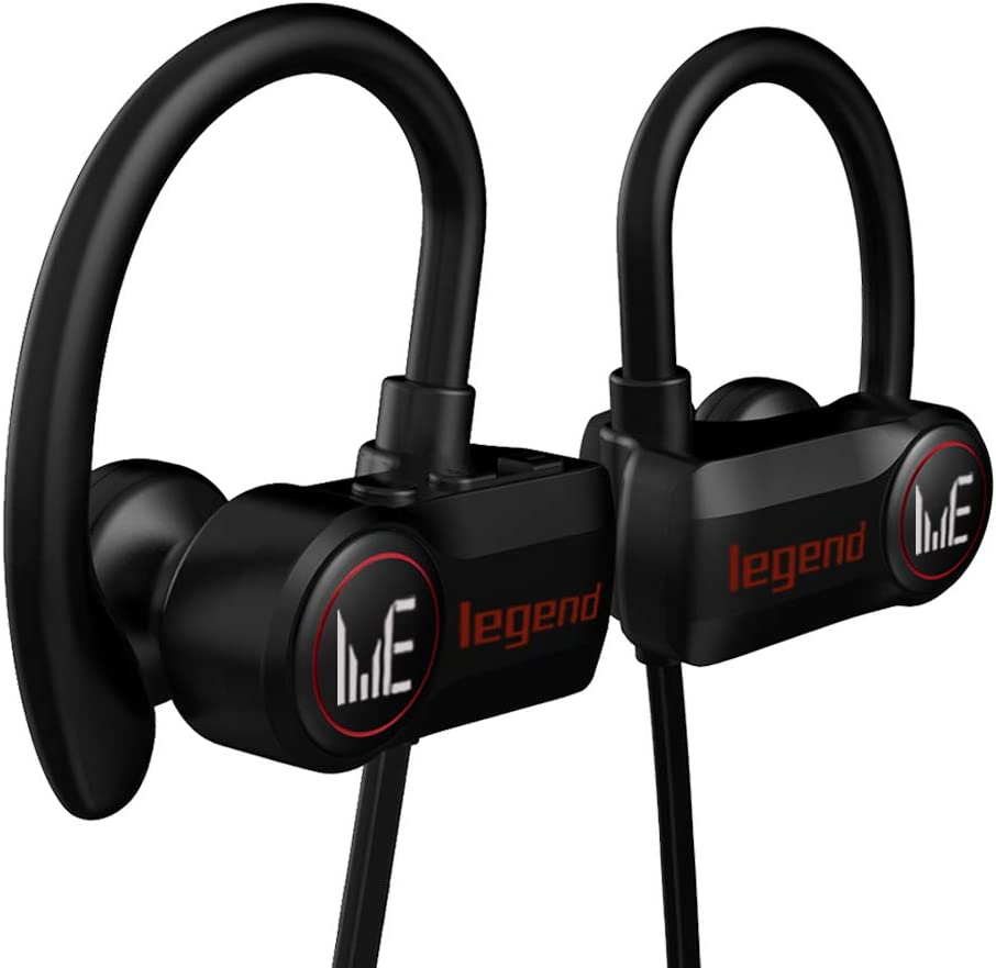 Bluetooth Headphones Waterproof IPX6, Bluetooth Sports Headsets Wireless Earbuds Sport, Richer Bass HiFi Stereo in-Ear Earphones w/Mic, Case, 7-9 Hrs Playback Noise Cancelling Headsets