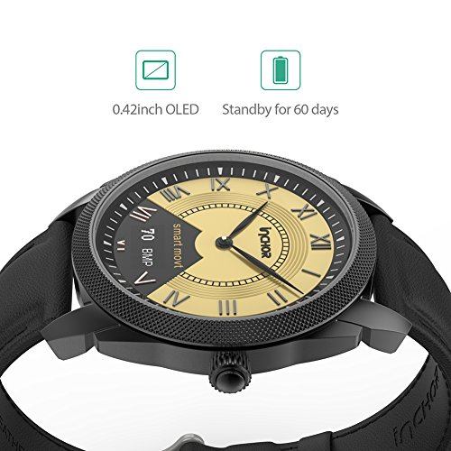 Ocamo Bluetooth 4.0 Waterproof Smart Watch Heart Rate Blood Pressure Monitor Sleep Fitness Tracker Pedometer Health Bracelet Silver by Ocamo (Image #4)