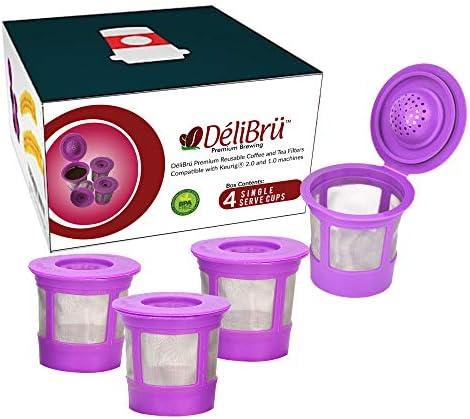 Reusable Okay Cups for Keurig 2.0 & 1.0 4PACK Coffee Makers. Universal Refillable OkayCups, Keurig filter out, Reusable kcup, okay cup k-cups reusable filter out by way of Delibru (4 Pack)