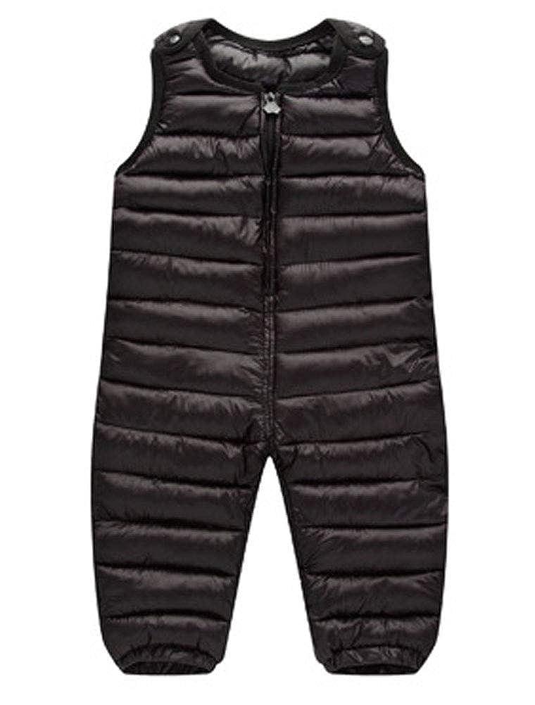 ARAUS Salopette Imbottito con Cotone da Neonato Pantaloni Bimbo Tute Senza Manica Outfit Jumpsuit Casuale Invernale 3270P10