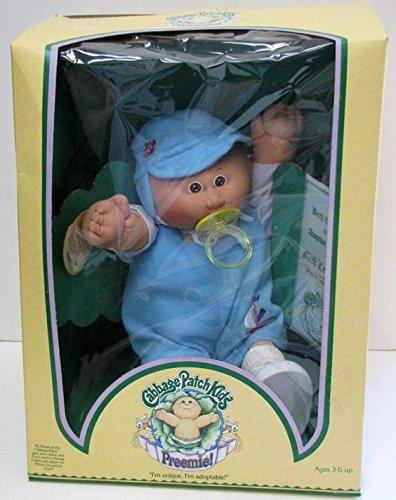 1982 Original Vintage Cabbage Patch Kids Doll - Preemie - Newbie - Bald with Blue Eyes - 15