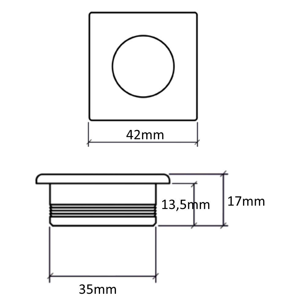 AERZETIX 10x Tirador para caj/ón alacena puerta mueble armario para empotrar cromo//negro 42//42mm C41436