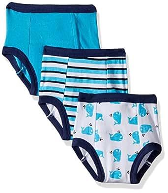 Luvable Friends Baby Cotton Training Pants, Blue Whale, 12-18 Months
