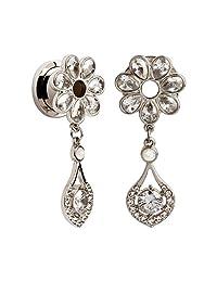 KUBOOZ Fashion Red wine Garnet Elegant Ear Plugs Tunnels Gauges Stretcher Piercings Jewelry