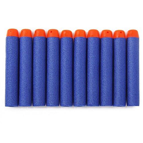 oft EVA Foam Bullet with Air Hole Refill Bullet Darts for Nerf Elite Series Blasters Kids Toy Gun - Blue ()