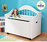 White Limited Edition Toy Box, Toy Chest Keeps Room Tidy with Clear of Clutter, Helps Teach the Need of Getting Organized, Roomy Storage, Doubles as a Bench Bundle with Expert Guide for Better Life