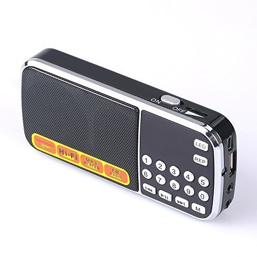 Ohala Portable Fm Radio Mp3 Player Mini Speaker-088 Black